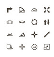 rotate - flat icons vector image