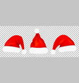 santa claus red hats vector image vector image