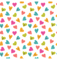 Seamless pattern with funny smiley hearts Cute vector image