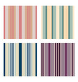 set of vertical stripes seamless print vector image vector image