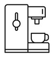 side coffee machine icon outline style vector image vector image