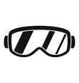 ski glasses icon simple style vector image vector image