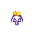 skull king logo vector image