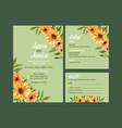 summer flower concept design for wedding card vector image vector image
