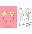 t-shirt of positive smiley vector image vector image