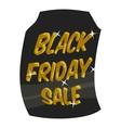 Tag sale black friday icon cartoon style vector image vector image