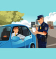 traffic violation vector image