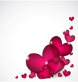 Valentines Day Background with pink hearts vector image vector image
