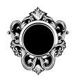 vintage luxury mirror frame baroque vector image vector image