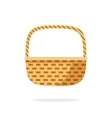 Wicker basket icon symbol isolated on white vector image vector image
