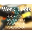 Work tools icon set vector image