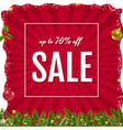xmas sale poster with christmas border vector image vector image