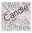 Yankee Candle Company 1 text background wordcloud vector image vector image