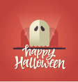 happy halloween - celebration card with vector image