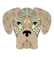 head of dog on white background vector image