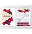 Abstract modern Triangle Brochure Flyer design vector image
