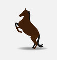 active healthy horse silhouette symbol vector image vector image