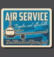 air service air travel passenger transportation vector image vector image
