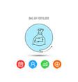 bag with fertilizer icon fertilization sack vector image