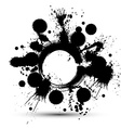Black and white ink splash seamless pattern vector image