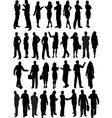 business people outlines vector image vector image