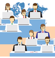 Call center Support service vector image
