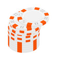 casino chips stacks isometric view isolated on vector image