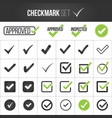 checkmark or tick mark collection set acceptance vector image vector image