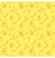Christmas seamless pattern with balls snowflakes vector image