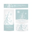 Christmas set for print cards vector image vector image