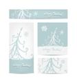 Christmas set for print cards vector image