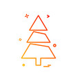 christmas tree icon design vector image