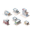 city buildings isometric 3d vector image vector image