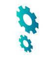 cogwheel icon isometric style vector image vector image