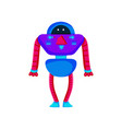 colored robot in cartoon style isolated vector image