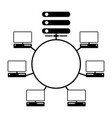 computer network diagram icon vector image