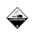 corrosive substance vector image