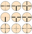 Cross hair and target set vector image vector image