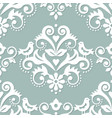 damask tiled textile or fabric pattern vector image vector image