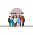 different human with aids ribbons vector image vector image