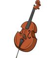 double bass cartoon clip art vector image vector image