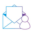 envelope mail with user profile vector image