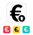 Euro exchange rate up icon vector image vector image