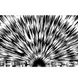 explosion background vector image vector image