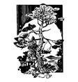 forest landscape pine vector image vector image