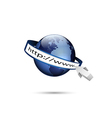 Global internet technology vector image vector image