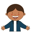 happy boy student uniform isolated vector image vector image