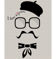 hipster in beret vector image vector image
