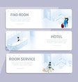 hotel booking find room cleaning service banners vector image vector image
