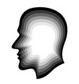 human silhouette layer head vector image vector image
